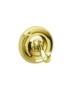 Smedbo Villa Collection Bath Towel Hook - Polished Brass