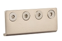 Sure-Loc Barn Door Rail Connector - Satin Nickel