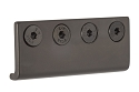 Sure-Loc Barn Door Rail Connector, Flat Black