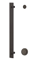 Sure-Loc Modern Handle with 14 Inch with 2 Inch Round Pull - Flat Black