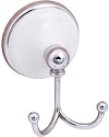 SureLoc Brighton Series Robe Hook in Polished Chrome with White Porcelain Rosette