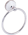 SureLoc Brighton Series Towel Ring in Polished Chrome with White Porcelain Rosette