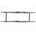 Top Knobs 12 Inch CC Nouveau Brook Back to Back Door Pull - Polished Chrome