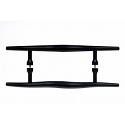 Top Knobs 18 Inch CC Nouveau Brook Back to Back Door Pull - Flat Black