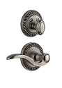 Grandeur Newport Handleset with Bellagio Lever - (Interior Half Only, with Deadbolt)