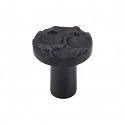 Top Knobs Cobblestone Round Knob Large 1 15/16 Inch - Coal Black
