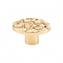 Top Knobs Cobblestone Oval Knob Small 2 Inch - Polished Brass