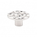 Top Knobs Cobblestone Oval Knob Small 2 Inch - Polished Nickel