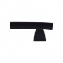 Top Knobs Sanctuary I Arched Knob/Pull 2 1/2 Inch - Flat Black