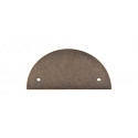 Top Knobs Sanctuary I Half Circle Backplate 3 1/2 Inch CC - German Bronze
