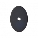 Top Knobs Sanctuary I Oval Backplate Medium 1 1/2 Inch - Flat Black