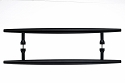 Top Knobs Nouveau Brook 18 Inch Back to Back Door Pull in Flat Black