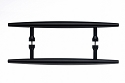 Top Knobs Nouveau Brook 8 Inch Back to Back Door Pull in Flat Black