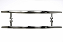 Top Knobs Nouveau Brook 18 Inch Back to Back Door Pull in Brushed Satin Nickel