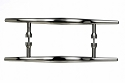 Top Knobs Nouveau Brook 12 Inch Back to Back Door Pull in Brushed Satin Nickel