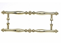Top Knobs 12 Inch Somerset Melon Back to Back Door Pull - Polished Brass