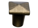 Top Knobs Aspen Square Knob - Light Bronze