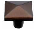 Top Knobs Aspen Square Knob - Mahogany Bronze
