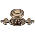 Top Knobs M31 Canterbury Knob 1 1/4 Inch W/ Backplate-German Bronze