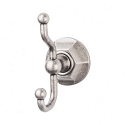 Top Knobs ED2APB Edwardian Hex Double Towel or Robe Hook - Antique Pewter