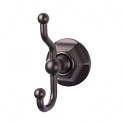 Top Knobs ED2ORBB Edwardian Hex Double Towel or Robe Hook - Oil Rubbed Bronze