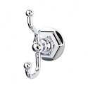 Top Knobs ED2PCB Edwardian Hex Double Towel or Robe Hook - Polished Chrome