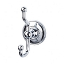 Top Knobs ED2PCD Edwardian Smooth Double Towel or Robe Hook - Polished Chrome