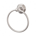 Top Knobs ED5APB Edwardian Hex Towel Ring - Antique Pewter