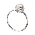 Top Knobs ED5BSNF Edwardian Rope Towel Ring - Brushed Satin Nickel