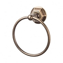 Top Knobs ED5GBZB Edwardian Hex Towel Ring - German Bronze