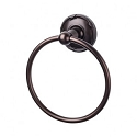 Top Knobs ED5ORBE Edwardian Ribboned Towel Ring - Oil Rubbed Bronze