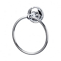 Top Knobs ED5PCE Edwardian Ribboned Towel Ring - Polished Chrome