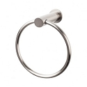 Top Knobs HOP5BSN Hopewell Towel Ring - Brushed Satin Nickel