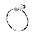 Top Knobs HOP5PC Hopewell Towel Ring - Polished Chrome