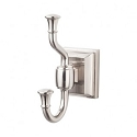Top Knobs STK2BSN Stratton Double Towel or Robe Hook - Brushed Satin Nickel