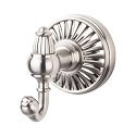 Top Knobs TUSC2BSN Tuscany Double Towel or Robe Hook - Brushed Satin Nickel