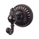 Top Knobs TUSC2ORB Tuscany Double Towel or Robe Hook - Oil Rubbed Bronze