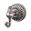 Top Knobs TUSC2PTA Tuscany Double Towel or Robe Hook - Pewter Antique