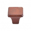 Topknobs M1810 Square Knob 1 1/4 Inch- True Rust