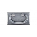 Top Knobs Chateau 3 Inch CC Mission Plate Handle - Pewter