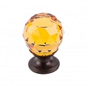 Top Knobs TK111ORB Amber Crystal Knob 1 1/8 Inch-Oil Rubbed Bronze