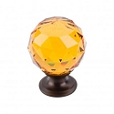 Top Knobs TK112ORB Amber Crystal Knob 1 3/8 Inch-Oil Rubbed Bronze