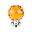 Top Knobs TK112PC Amber Crystal Knob 1 3/8 Inch-Polished Chrome