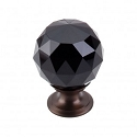 Top Knobs TK116ORB Black Crystal Knob 1 3/8 Inch-Oil Rubbed Bronze