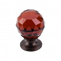 Top Knobs TK121ORB Wine Crystal Knob 1 1/8 Inch-Oil Rubbed Bronze