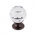 Top Knobs TK125ORB Clear Crystal Knob 1 1/8 Inch-Oil Rubbed Bronze