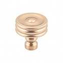 Top Knobs TK881HB Brixton 1 1/4 inch Ridged Knob - Honey Bronze