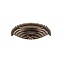 Top Knobs M939 Ribbon & Reed Cup Pull 3 Inch (C-C)- German Bronze