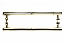 Top Knobs 12 Inch CC Appliance Handle Pair - Polished Brass
