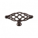 Top Knobs M779 Oval Medium Twist Knob 3 Inch- Oil Rubbed Bronze